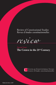 Review of Constitutional studies cover